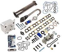 2003-10 Ford 6.0L V8 Diesel EGR Upgrade Kit & Oil Cooler + Regulator Blue Spring