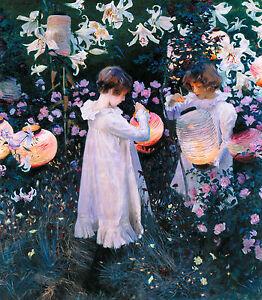 John Singer Sargent - Carnation, Lily, Lily, Rose, Museum Art, Canvas Print