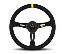 """MOMO Steering Wheel Mod 08 Black Suede 350mm + Free MOMO Suede Brush """"US Dealer"""""""