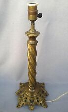 """Huge antique french church candlestick lamp made of bronze 19th century 19"""" tall"""