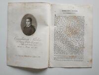 1819 Ortolani, Ritratto/Bio di Giambattista Nicolosi, Geografo, Paternò - Roma