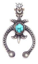 Navajo Handmade Sterling Silver Kingman Turquoise Old Style Naja - Kevin Billah