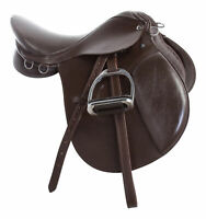 "Used English Saddle 16"" 18"" All Purpose Training Show Leather Horse Jumping"