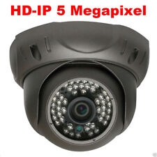 5MP HD Network PoE Dome Weatherproof IP Security Camera 130FT IR OSD Menu ONVIF