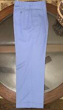 Ralph Lauren Purple Label Size 34 Gent's Pants 100% Wool Made in Italy Sky Blue