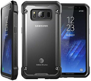 Genuine SUPCASE Case For Samsung Galaxy S8 Active, Slim Hybrid Cover Frost/Black