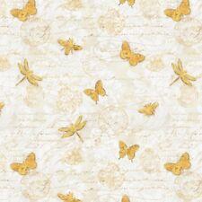 Wilmington Hydrangea Dreams by Michael Davis 96440 151 Ivory Gilded Cotton