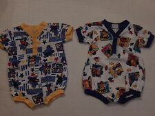 BOYS  SIZE 9 MO OUTFITS 2  COTTON  OUTFITS ONE PIECE CREEPERS