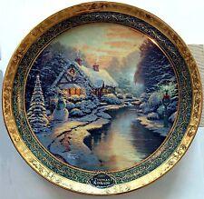 "Thomas Kinkade ""Christmas Evening"" 9.25"" Plate 2007 9th Bradford Exchange"