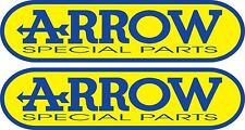 2x ARROW STICKERS SPONSOR SHEET DECALS VINYL DECAL STICKER EXHAUSTS
