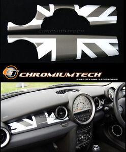 MK2 MINI Cooper/S/ONE R55 R56 R57 R58 R59 Black Union Jack Dashboard Panel Cover