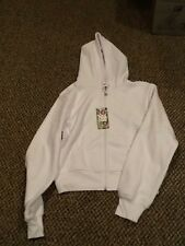 Shorty White Zip up Hoody, Juniors size 2xl