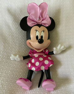 Disney Store Talking Fashion Minnie Mouse Doll Working Hard Face Happy Helper