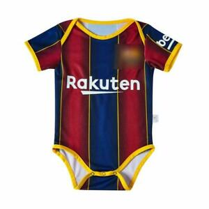 FC Barcelona 2020-2021 Baby Jersey Romper Jumpsuit Football Soccer