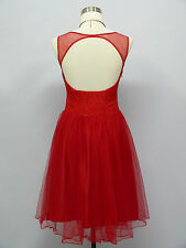 Cherlone Red Prom Ball Evening Bridesmaid Wedding Knee Length Dress Size 14-16