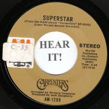 Carpenters 70s ROCK 45(AM 1289) Superstar/Bless The Beasts And The Children VG++