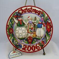 Jim Shore Commemorative Christmas 2006 Plate w/Easel
