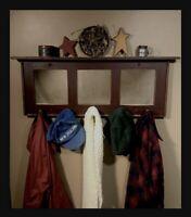 Handmade, Rustic, Primitive, Farmhouse Style Mirror Coat Rack