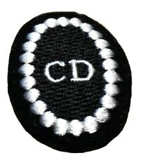 """Christian Dior Logo 2"""" Sew On or Iron On Embroidered Applique"""