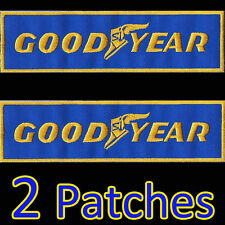 2 Patches x GOODYEAR Iron On Embroidered Racing Motorsport VW Porsche Ferrari
