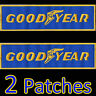 2 Patches x GOODYEAR Iron On Embroidered Racing Motorsport VW Porsche Ferrari