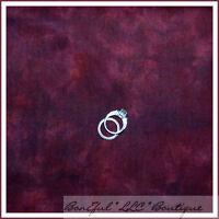 BonEful Fabric FQ Cotton Quilt Brushed VTG Xmas Dk Maroon Burgundy Solid Blender