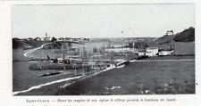 16 SAINT CLAUD VUE PANORAMIQUE IMAGE 1924 OLD PRINT