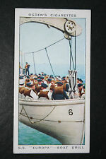SS EUROPA  Boat Drill  Norddeutsche Lloyd Liner  Vintage Colour Card  VGC