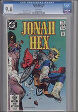 Jonah hex #73  CGC 9.6 1983 DC Comic:  Hex in a Wheel Chair