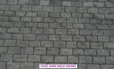 Dolls House Grey Slate Roof Miniature Wall Paper 12 Th Scale Julie Anns