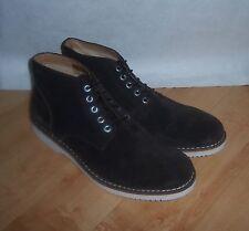 BNWOB mens G-STAR brown suede Garrett II Burroughs boots size UK 11 EU 45