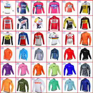 2021 Mens Pro Team Long Sleeve Cycling Jersey Cycling Clothing Bicycle Jeresys