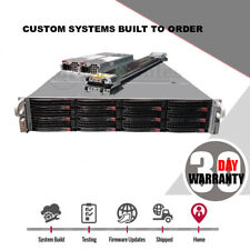 2U FreeNAS 12 Bay JBOD Server X9DRI-LN4F+ 2x Xeon E5-2620 V2 Hex core 256GB Ram