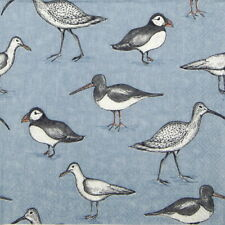 4x Paper Napkins for Decoupage Decopatch - Puffin, Oystercatcher and shore birds