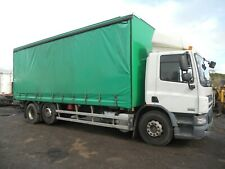 DAF CF75.310 2007 6x2 SEMIAUTO 26' CURTAINSIDER T/A TAIL LIFT LONG MOT TIDY
