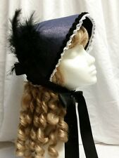 Ladies Victorian Edwardian Style Grey Bonnet Hat Theatre Fancy Dress