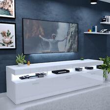 TV-Lowboard VANCOUVER Lowboard TV-Schrank Weiß Hochglanz Fernsehschrank mit LED