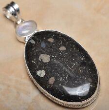 "Handmade Natural Ocean Jasper Gemstone 925 Sterling Silver Pendant 3"" #P11354"