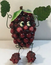 """Collectible Shelf Sitter Fruit -Grapes 4"""" X 2"""" Bendable Vg"""