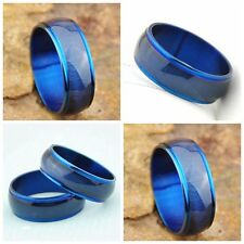10pcs Fashion cats eye blue Stainless Steel Ring