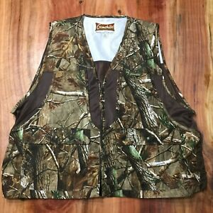 Gamehide Hunting Vest Mens 2XL XXL Camo Camouflage Brown Real Tree Zip V3-5