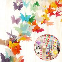 2.7m 3D Butterfly Hanging Paper Banner Wedding Birthday Party Garland Art Decor