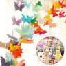 2.7m 3D Butterfly Hanging Paper Banner Wedding Birthday Party Garland Art Decor