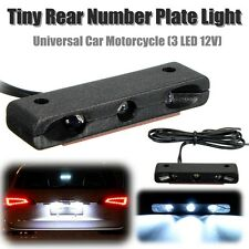 Car Motorcycle Number Plate Tail Light 3 Micro LED 12V Tiny Lamp White Universal