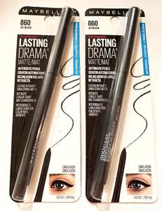 Maybelline Lasting Drama Matte Automatic Pencil, 860 Jet Black, 2 Pack