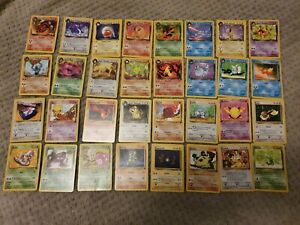Pokemon Team Rocket!! WOTC 1999 Near complete set non holo cards 48/82 nr mint!