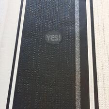 Quattro Stripe Wallpaper Embossed Luxury Vinyl Glitter Effect Black White Crown