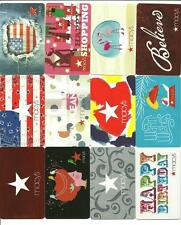 Lot (12) Macy's Gift Cards No $ Value Collectible w/ Diecut, Flag, Transparent