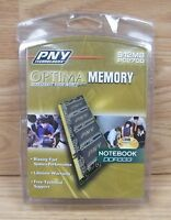 PNY Optima Memory (N512D27OPT) 512MB PC2700 256MB Notebook DDR333 **NEW-READ**