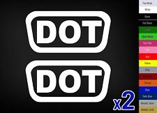 2x DOT Sticker Vinyl Decal D.O.T Bike Helmet Motorcycle Replace Pack